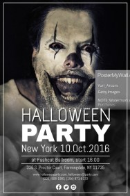 halloween costume party flyer