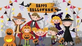 halloween Party flyer template facebook Facebook-omslagvideo (16:9)