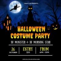 Halloween Party flyers Instagram Post template
