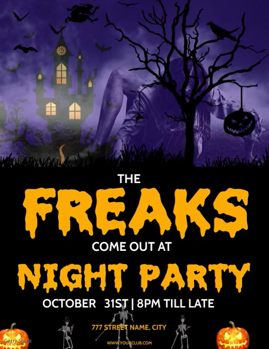 Halloween Party flyers Pamflet (VSA Brief) template