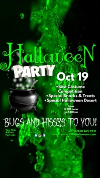 Halloween Party Instagram Digital Display (9:16) template