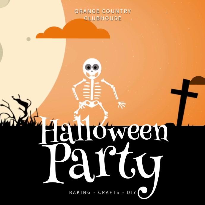 Halloween Party Instagram Template Instagram-opslag