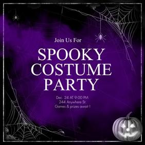 Halloween Party Instagram Post Design template