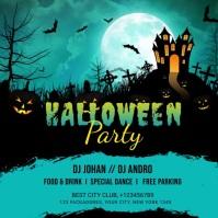 Halloween Party Instagram post template