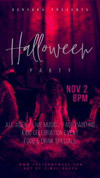 Halloween Party Instagram Story Template