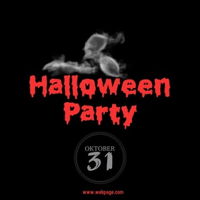 Halloween party Instagram video template