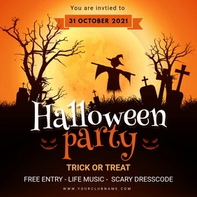 Halloween Party Invitation Animated Instagram Post template