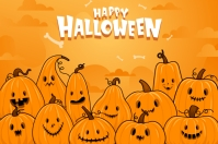 Halloween party invitation background 标签 template