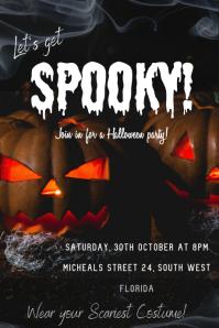 Halloween Party invitation Ihluzo le-Tumblr template