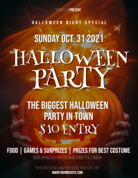 Halloween Party Invitation Flyer (US Letter) template