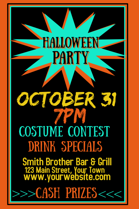 Halloween Party Invitation Poster template