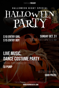 Halloween Party Invitation Cartaz template