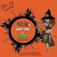 Halloween Party Invitation Instagram 帖子 template