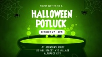 Halloween Party Invitation Vidéo de couverture Facebook (16:9) template
