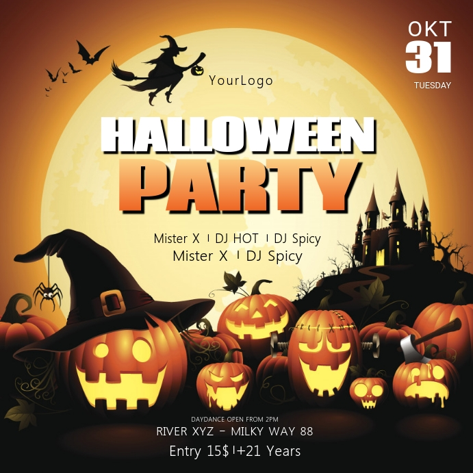 halloween Party Invitation event Social Media