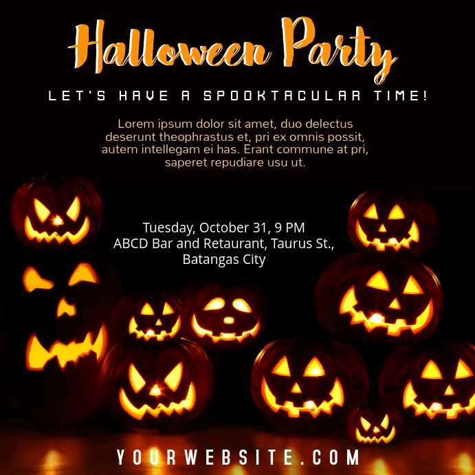 Halloween party invitation template postermywall halloween party invitation customize template stopboris Choice Image