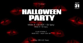 Halloween Party Invitation Header Cover Event Facebook-Veranstaltungscover template