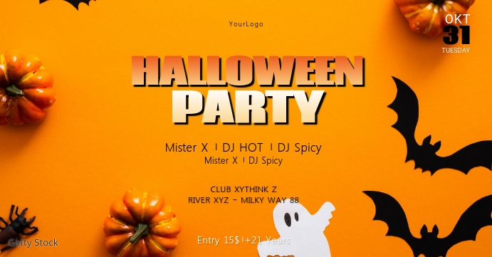 Halloween Party Invitation Header Cover Event
