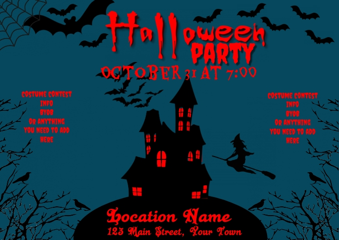 Halloween Party Invitation Postcard