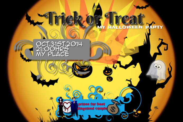 halloween party invitation customize template