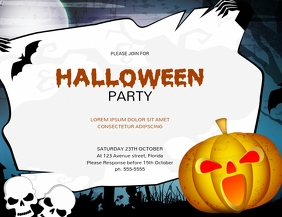 Halloween Party Invitation Template Flyer (US Letter)