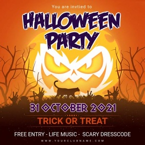 Halloween Party Invite animated