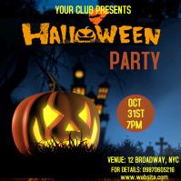 Halloween party invite Publicação no Instagram template