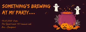 Halloween Party Invite Facebook Cover Photo