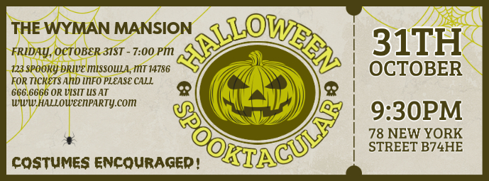 Halloween Party Invite Facebook Cover Video
