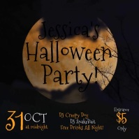 Halloween Party invite instagram video Square (1:1) template