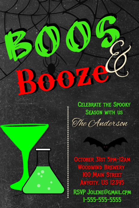 halloween party invite customize template