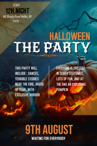 Halloween Party Invite Poster Template
