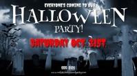 HALLOWEEN PARTY INVITE W. MUSIC Digitalt display (16:9) template
