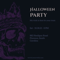 Halloween party invites Instagram na Post template