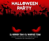 Halloween Party Large rectangle template