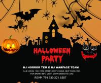 Halloween Party medium rectangle Rectángulo Mediano template