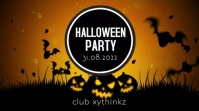 Halloween Party Night Event ad header Video