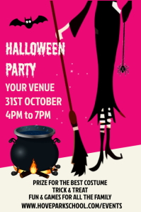 Halloween Party Night Event Poster Template