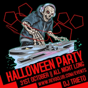 Halloween Party Night Event Template