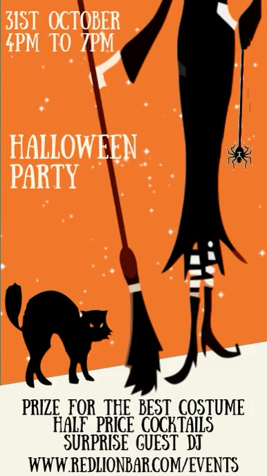 Halloween Party Night Event Video Template