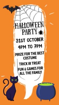Halloween Party Night Event Video Template Display digitale (9:16)