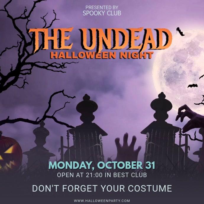 Halloween Party Night Invitation Video Template