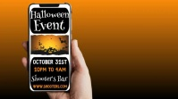 Halloween party night social media ad Digital Display (16:9) template