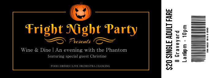 Halloween Party Night Ticket Design