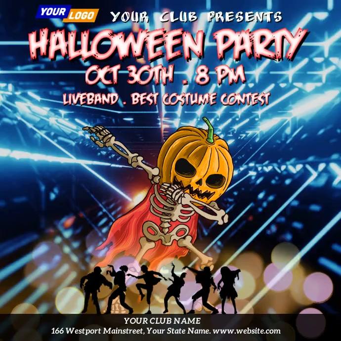 Halloween Party Night Video Template Instagram Plasing