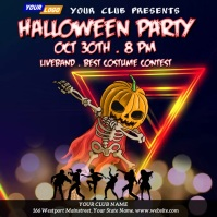 Halloween Party Night Video Template Instagram-bericht