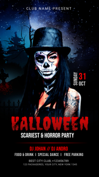 Halloween Party Post Instagram Story template