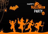 Halloween party Postcard Postal template
