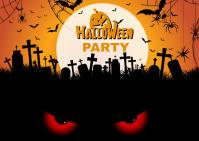 Halloween Party Postcard template