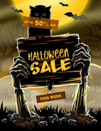 Halloween Party Poster Flyer (US Letter) template